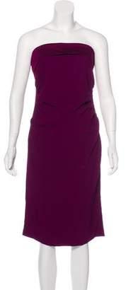 Saint Laurent Strapless Mini Dress