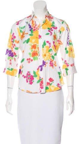 Ralph Lauren Floral Print Button-Up Top w/ Tags