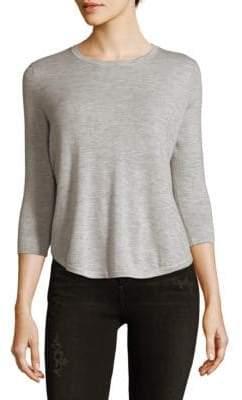 Autumn Cashmere Pleated Back Hi-Lo Cashmere Top