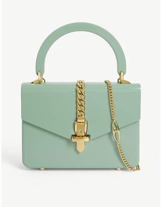 Gucci Sylvie patent leather mini tote