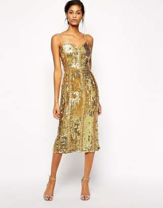 Virgos Lounge Honor Allover Sequin Midi Dress