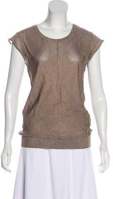 Camilla And Marc Sleeveless Metallic Knit Top