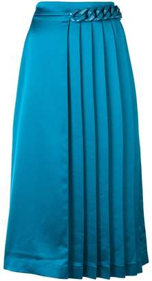 MSGM chain-embellished pleated skirt