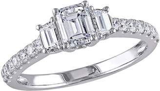 Affinity Diamond Jewelry Affinity 14K Gold 1.25 cttw Emerald-Cut Diamond3-Stone Ring