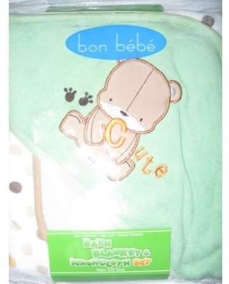 Bon Bebe Bath Blanket & Washcloth Set