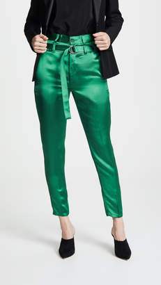 Robert Rodriguez High Waisted Satin Pants