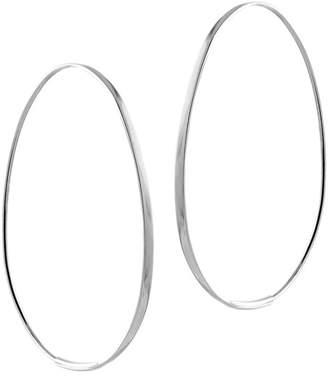 Lana 14K White Gold Small Tear 42mm Hoop Earrings