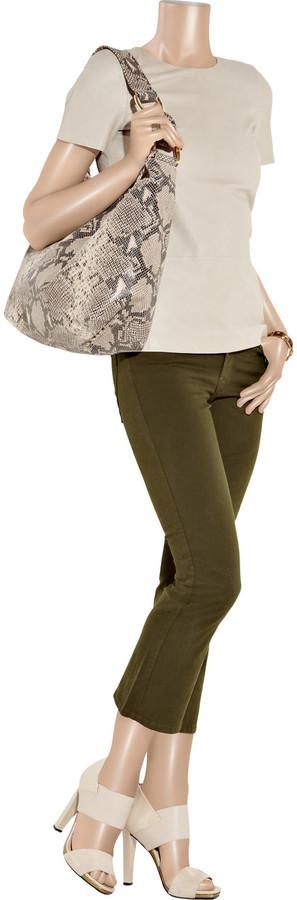J Brand Gigi mid-rise cropped flared jeans