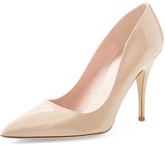 daeaa691a91 YDN Women s Classic Pointed Toe Pumps Slip on Stilettos Mid-Heel Patent  Comfort Shoes 8