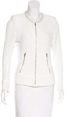 IRO Amiya Suede-Trimmed Jacket