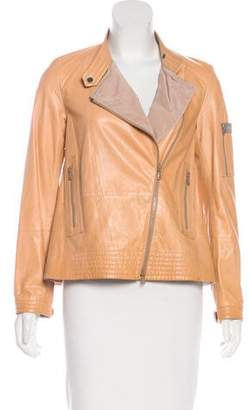 Brunello Cucinelli Leather A-Line Jacket