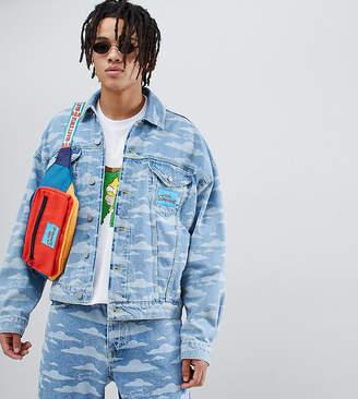 The Simpsons Asos Design x ASOS DESIGN denim jacket with cloud burnout