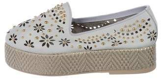Baldinini Studded Leather Loafers
