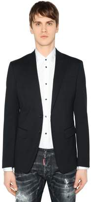 DSQUARED2 Side Zips Stretch Wool Jacket