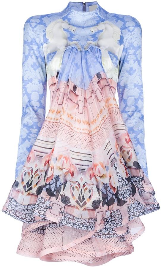 Mary Katrantzou 'Powdy' ruffle dress