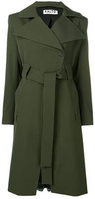 Aalto contrasting panels trench coat