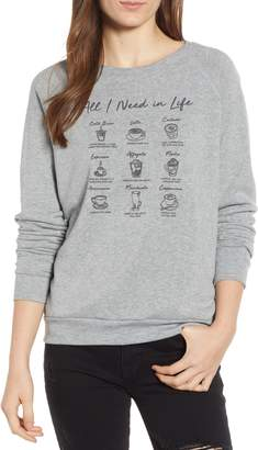 Project Social T All I Need Is Coffee Sweatshirt