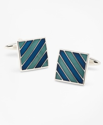 Brooks Brothers Argyle and Sutherland Stripe Enamel Cuff Links