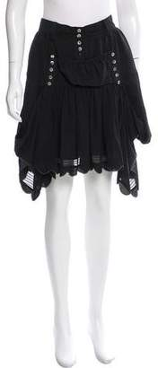 Tsumori Chisato Silk Knee-Length Skirt w/ Tags