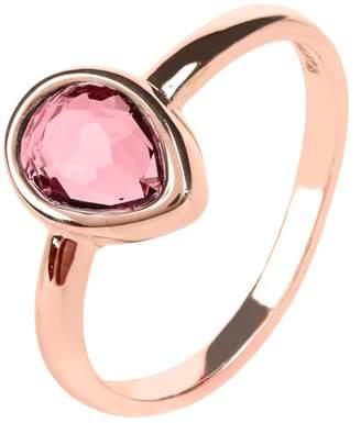 Rosegold Latelita London - Pisa Mini Teardrop Ring Pink Tourmaline Hydro