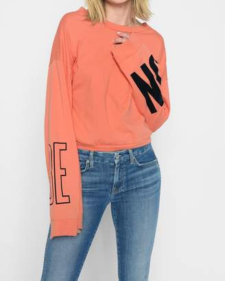 """7 For All Mankind Be On"""" Tomboy Long Sleeve Tee in Poppy"""