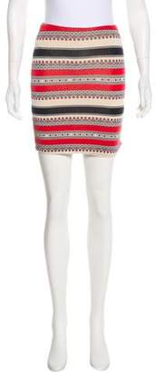 Torn By Ronny Kobo Geometric Print Mini Skirt