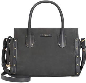 Radley London Zip-Top Studded Multiway Leather Satchel