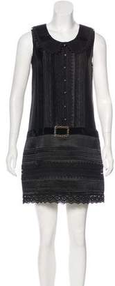 Anna Sui Sleeveless Satin Dress