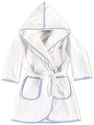 Möve Size 116 Cotton Baby Bath Robe, Snow/Sky