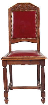 One Kings Lane Vintage 1920s Tudor Rose Side Chair - Blink Home Vintique