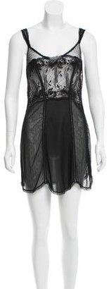 La Perla Semi-Sheer Lace Slip w/ Tags $125 thestylecure.com