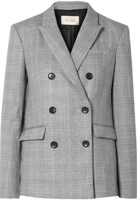 Equipment + Tabitha Simmons Hamish Oversized Prince Of Wales Checked Voile Blazer - Gray