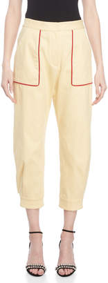 Miu Miu Contrast Piped Cropped Pants