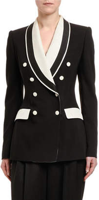 Dolce & Gabbana Double-Breasted Contrast Lapel Tuxedo Jacket