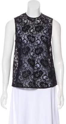 Rachel Comey Sleeveless Floral Lace Top