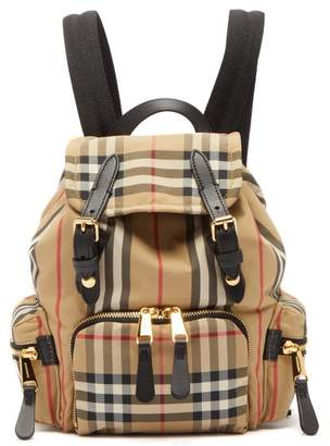 Burberry Vintage Check Mini Canvas Backpack - Womens - Beige Multi