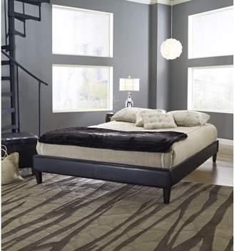 Premier Elite II Upholstered Faux Leather Platform Bed Frame with Bonus Base Wooden Slat System, Multiple Colors & Sizes