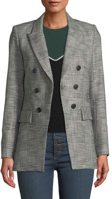 Veronica Beard Fortuna Check Single-Button Dickey Jacket