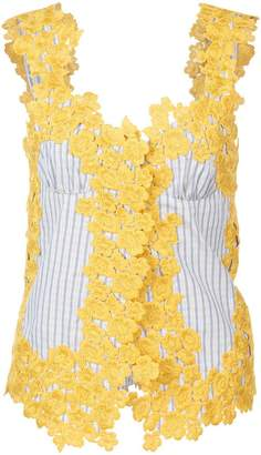 Rosie Assoulin floral embroidered top