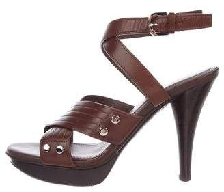 Tod's Leather Crossover Sandals