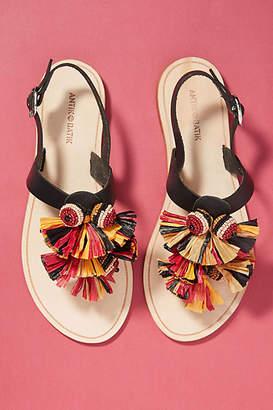 Antik Batik Rio Leather Tasselled Sandals