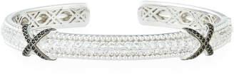 Jude Frances Narrow Pave Topaz & Spinel Crisscross Bangle Bracelet