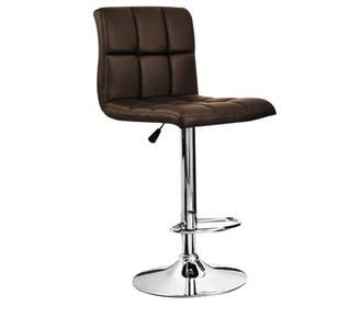Generic Bar Stool PU Faux Leather Kitchen Breakfast Chairs Swivel Stools Home