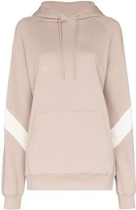 Ninety Percent contrast panel hoodie
