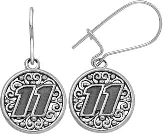 "Insignia Collection NASCAR Denny Hamlin Stainless Steel ""11"" Drop Earrings"