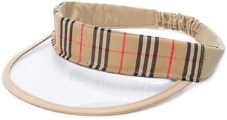 Burberry check-trim visor