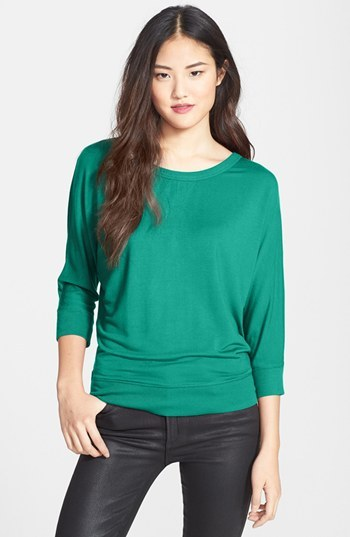 Halogen Wrap Back Stretch Modal Sweatshirt