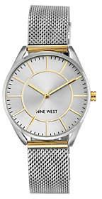 Nine West Ladies Two-tone Mesh Bracelet Watch