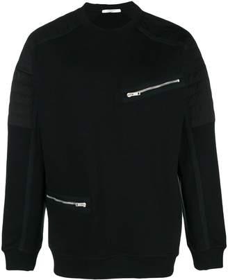 Givenchy zip detail sweatshirt