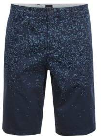BOSS Hugo Digitally printed slim-fit shorts in stretch cotton 34R Dark Blue